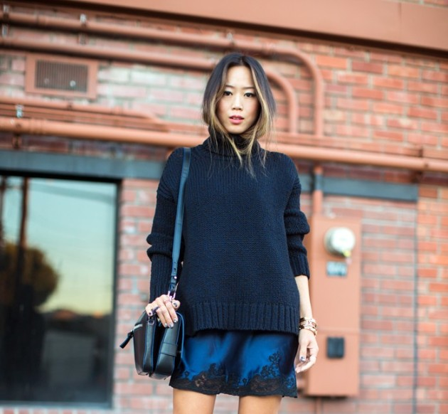 negro, tendencia, moda, mujer