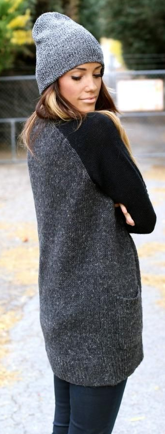 gris, tendencia, outfit, mujer, moda