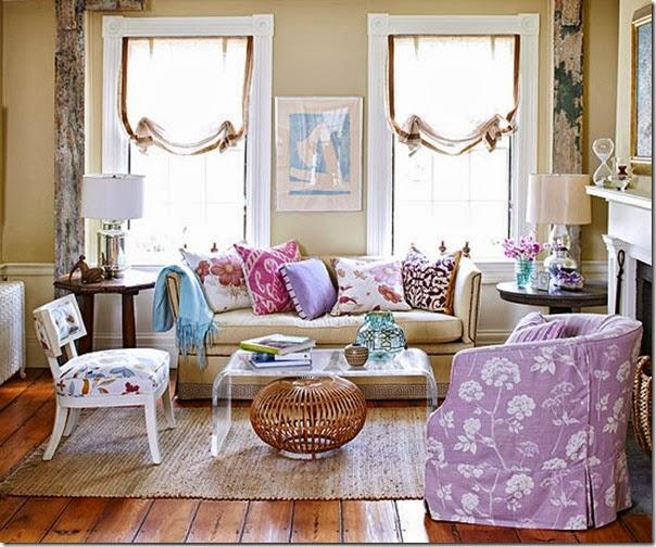 decoración, estilo nórdico, blanco, violeta