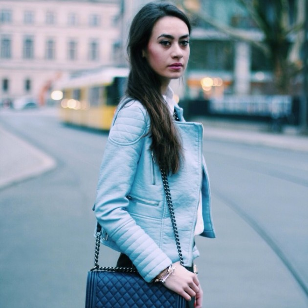 zara, caqueta, azul, tendencia, moda, mujer