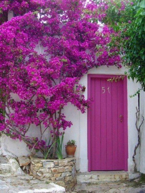 decoración, nórdico, violeta, palets