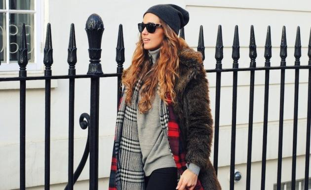 zara, bufanda, fular, manta, tendencia, outfit, mujer