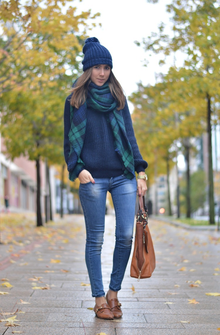 brave outfit bufanda azul de