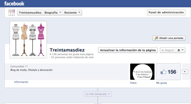 facebook, treintamasdiez, likes