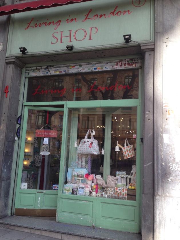 Living in London, salón de te, tienda, Madrid