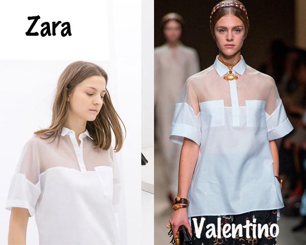 Zara, Valentino, clones, tendencia, mujer