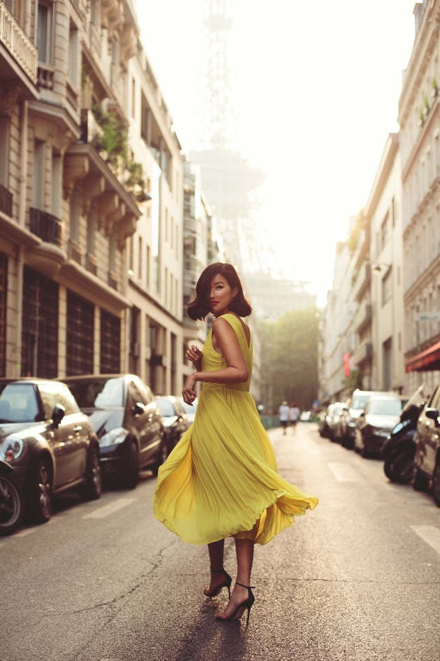 amarillo, tendencia, outfit, moda, mujer
