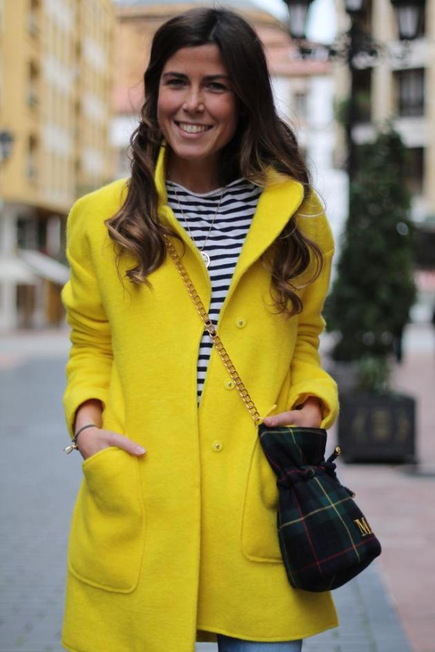 amarillo, outfit, tendencia, mujer