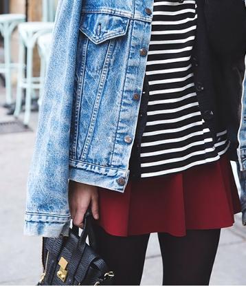 camiseta, rayas, outfit, moda, mujer, navy