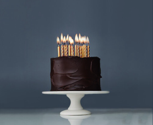 tarta, chocolate, cumpleaños