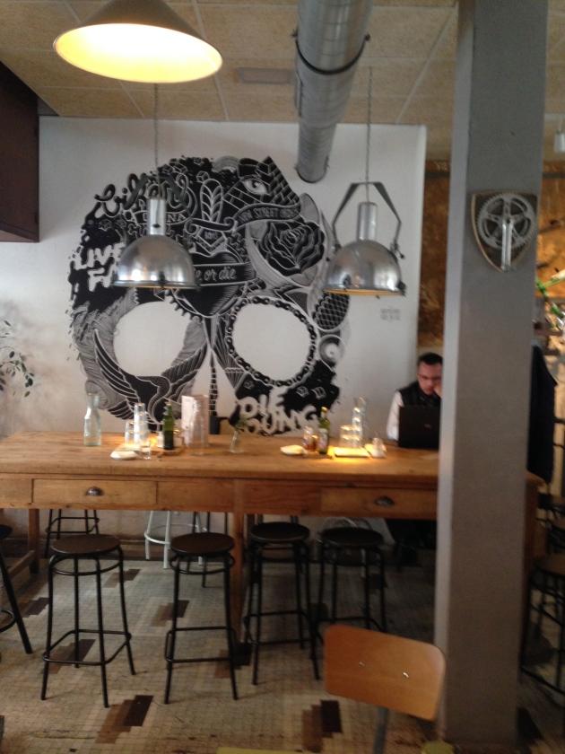 Malasaña, la bicicleta, triball, maricastaña, restaurante