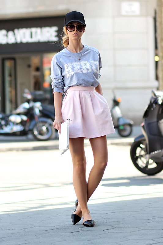faldas midi, tendencia, outfit, mujer