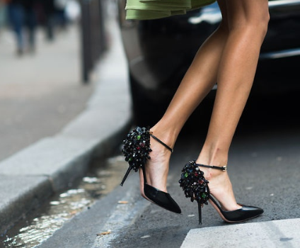 zapatos, tacones, tendencia, outfit, mujer