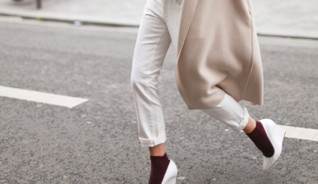 blanco, tendencia, outfit, mujer