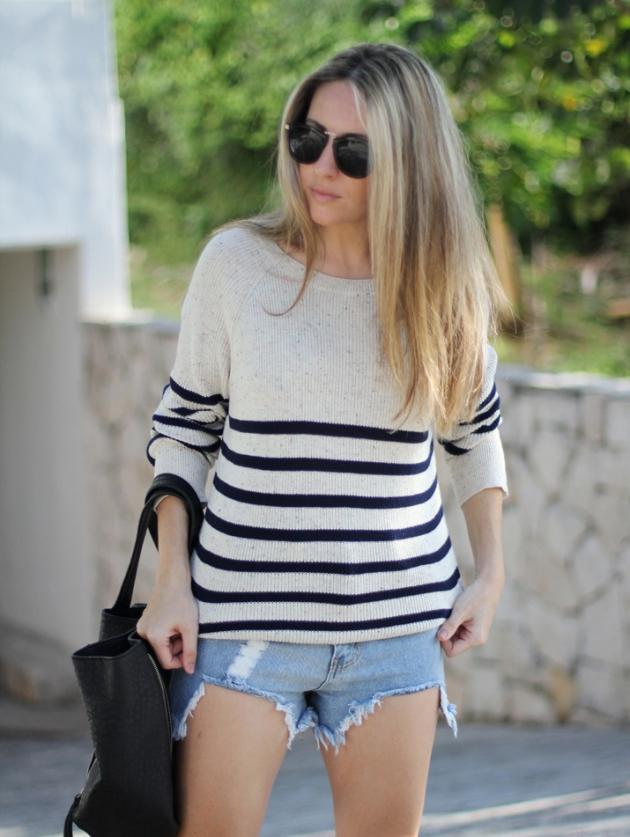jeans, cortos, vaqueros, tendencia, outfit, mujer