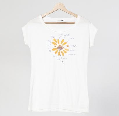 camiseta, me quiere, no me quiere, margarita, natura