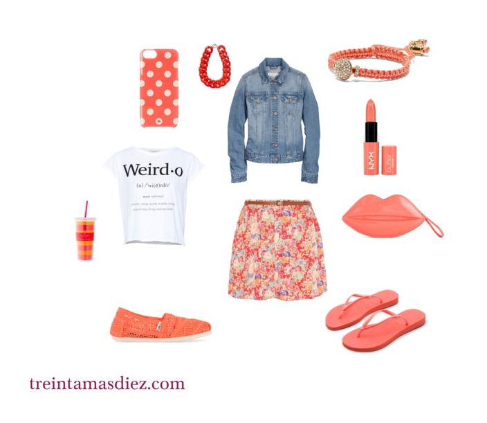 coral, tendencia, mujer, moda, color, primavera