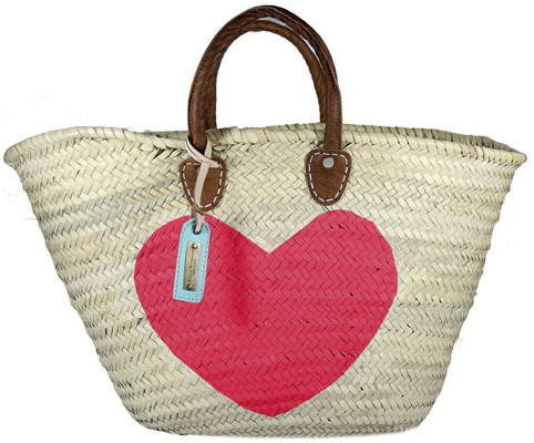 cesto, corazón, playa, treintamasdiez, Stella Rittwagen, capazo, bolsa playa