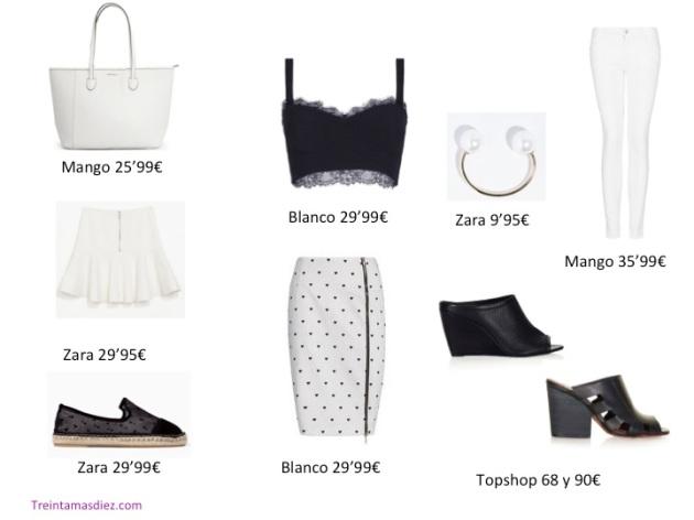 blanco y negro, tendencia, outfit, mujer, Zara, Mango, Blanco, Topshoop