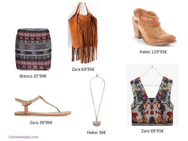flecos, tribal, tendencia, outfit, mujer, moda, Zara, Hakei, Blanco