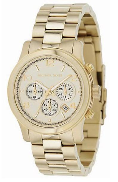 Michael Kors, reloj, pulsera, dorado, complemento