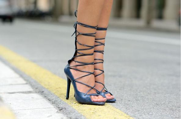sandalias, tacón, zapatos, tendencia, primavera, calzado