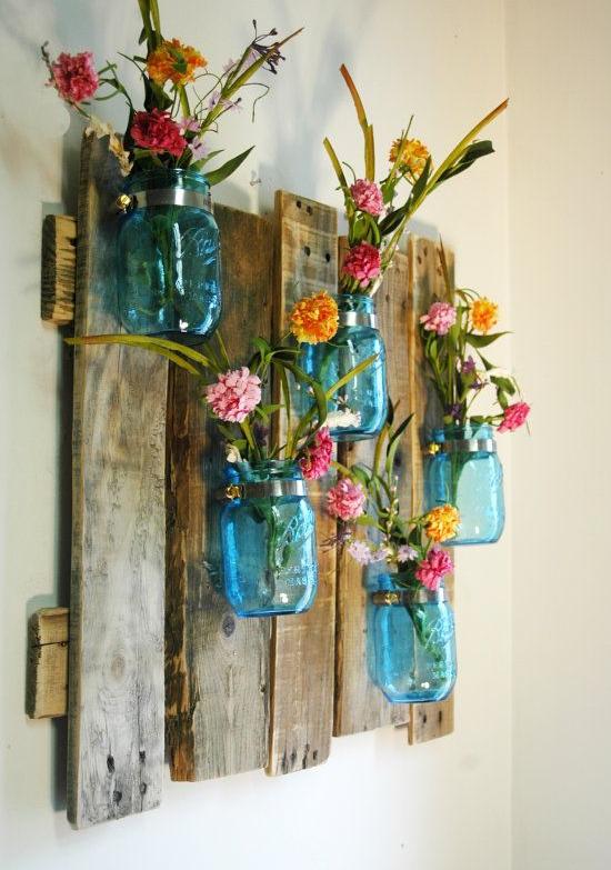 decoración, original, diferente, cabeceras, arpillera