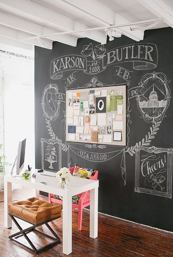 Decoracion con pizarra fabulous decoracin pizarra chalkboard tendencia with decoracion con - Decoracion con pintura para paredes ...