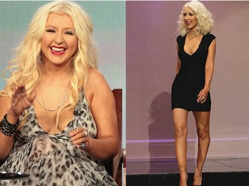 celebridades gordas antes y despues de adelgazar