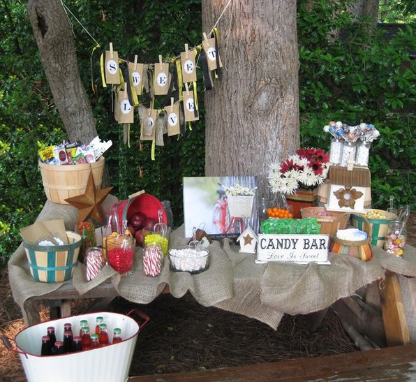 candy bar, buffet, fiesta, finger food,