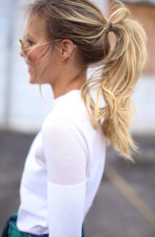 treintamasdiez-blog-de-moda, pony tail, coleta, blanco, camisa