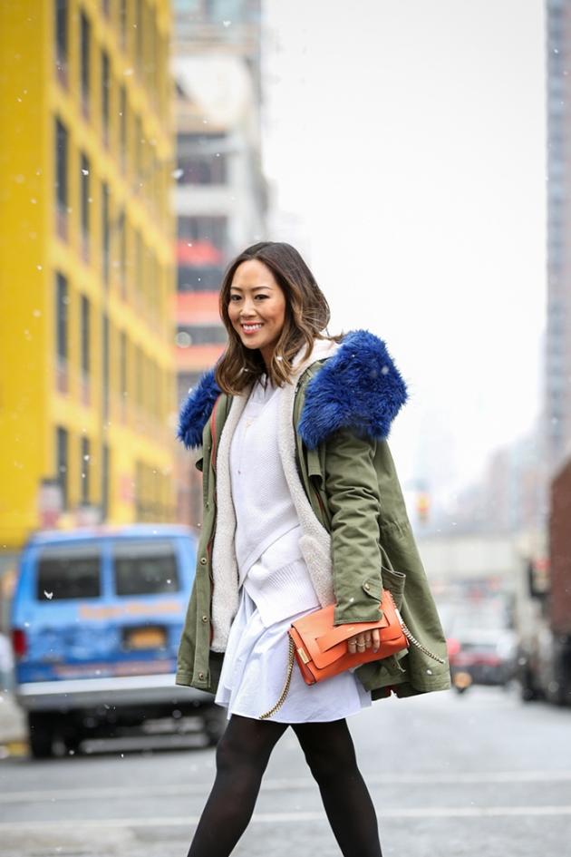 treintamasdiez blog de moda aimee_song_blue_faux_fur_military_jacket