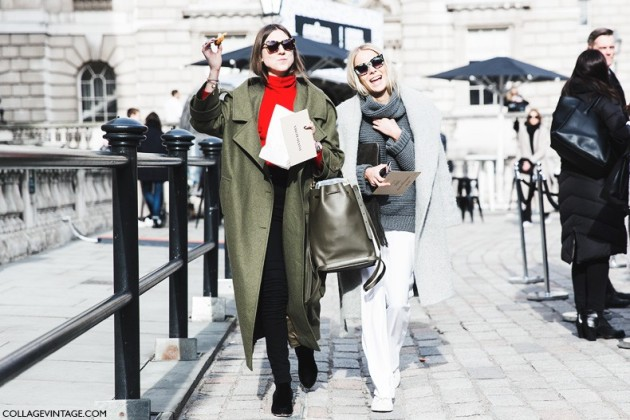 London_Fashion_Week_Fall_Winter_2015-Street_Style-LFW-Collage_Vintage-Friends-Oversize_Coat-White_Pants-Grey_Coat-1-790x527