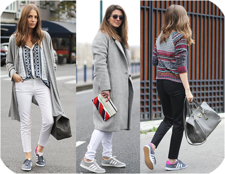 zapatillas adidas mujer gazelle gris