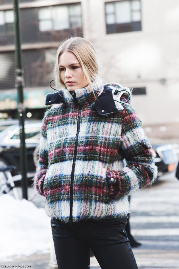 treintamasdiez blog de moda New_York_Fashion_Week-Fall_Winter_2015-Street_Style-NYFW-Anna_Ewers-Checked_Coat-4-790x1185