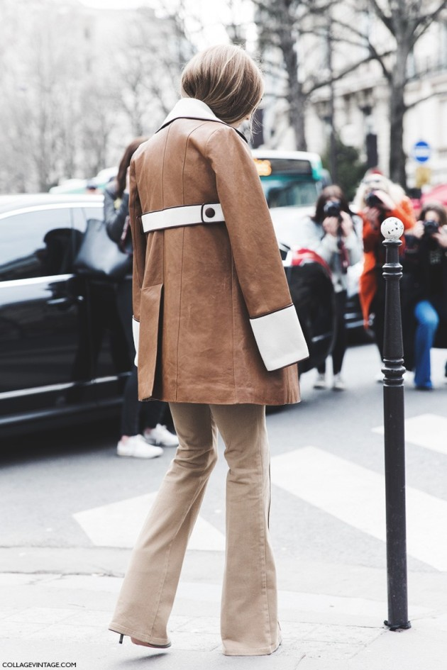 treintamasdiez blog demoda Pantalon aris_Fashion_Week-Fall_Winter_2015-Street_Style-PFW-Olivia_Palermo_Leather_Coat-Giambatista_Valli-Flared_Trousers-20-790x1185